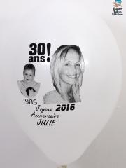 Ballons-personnalisés-30-ans-Julie-blanc