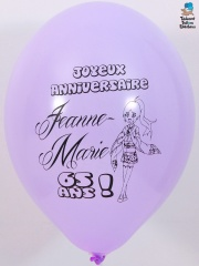 Ballons-personnalises-65-ans-Jeanne-Marie-violet