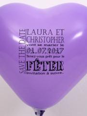 Ballons-personnalisés-coeur-Save-The-Date-Laura-et-Christopher