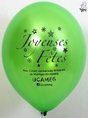 Ballons-publicitaires-Joyeuses-Fêtes-Ucameg-vert