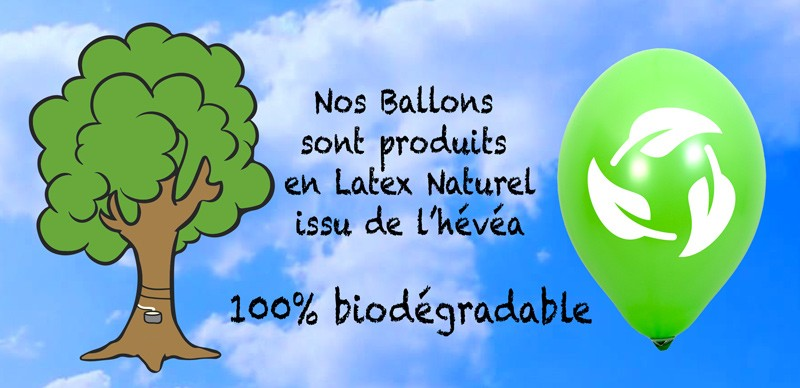 Ballon publicitaire biodegradable