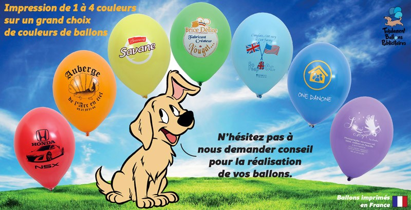 Exemple impression Totalement Ballons Publicitaires Nord Lille
