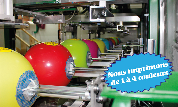 Machine impression ballons publicitaires