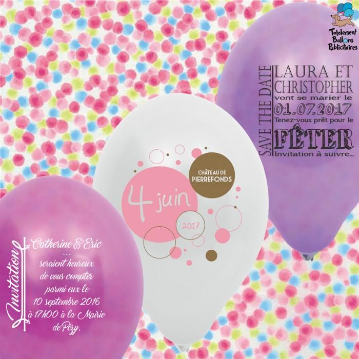 Ballons personnalisés save the date