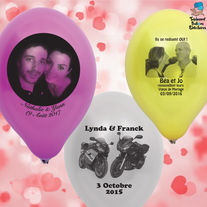 Ballons personnalisés mariage 1