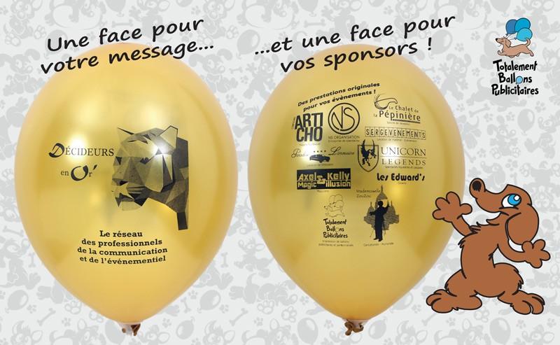 Ballons pub et sponsors