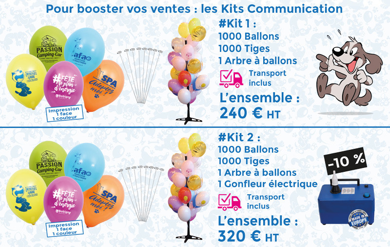 Kit communication 1000 ballons publicitaires