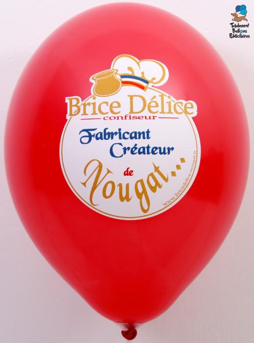 Ballon imprimé 4 couleurs Brice Délice